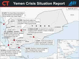 Map Of Yemen 2017 Yemen Crisis Situation Report April 28 Critical Threats