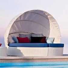 canapé circulaire canapé circulaire extérieur varaschin arena avec capote style moderne