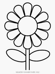 simple flower kindergarten kids coloring pages realistic