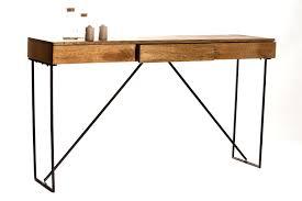 bureau metal et verre design d intérieur bureau en bois design beautiful console metal
