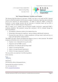 Certification Letter Of Ownership Sle Nsdc Proposal For Indian Ngos