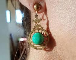 pagoda earrings pagoda earrings etsy