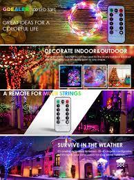 gdealer 100 led 33ft lights string lights