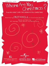 preview where are you christmas by faith hill hl 352989 sheet