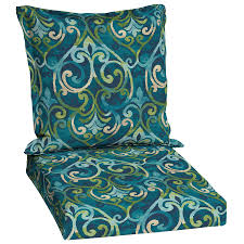 Garden Treasures Patio Chairs Shop Garden Treasures Salito Marine Damask Deep Seat Patio Chair