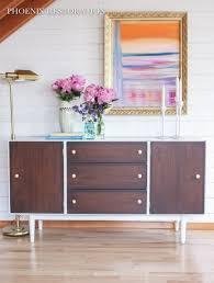 Modernizing Antique Furniture by Mid Century Modernized Sideboard W High Gloss Oil Enamel U0026 Gel