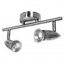Ceiling Spot Light Fittings Powermaster 2 Brushed Indoor Ceiling Light Fitting With Gu10