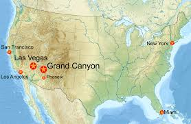 map las vegas and grand usa map with grand