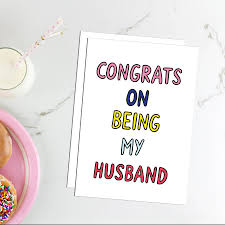 congrats wedding card congrats on being my husband card by dearly