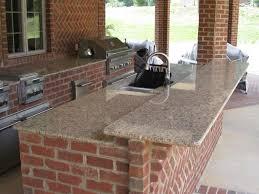 Outdoor Kitchen Backsplash Kitchen Traditional Rustic Brick Wall Outdoor Kitchen With