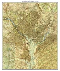 Map Of Washington by Topographical Map Of Washington Dc 1945