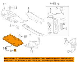 lexus is350 toyota lexus toyota oem is350 under radiator engine cover splash shield