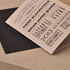 Wedding Invitations With Free Response Cards Brown Wedding Invitations Rectangle Potrait Black Casual And