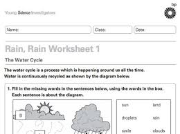 water cycle vocabulary worksheet free worksheets library
