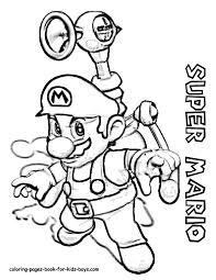 super mario coloring pages the sun flower pages