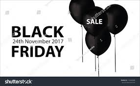 black friday 24th november 2017 website stock illustration