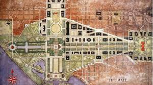 Map Washington Mall by The Mcmillan Plan For The Dc Mall Wttw Chicago Public Media