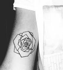 simple geometric rose bicep tattoo amazing tattoo ideas