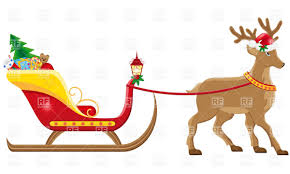 sleigh clipart free clip art of santa and his sleigh christmas