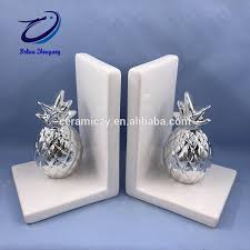 ceramic book holder pineapple shaped bookends buy ceramic letter