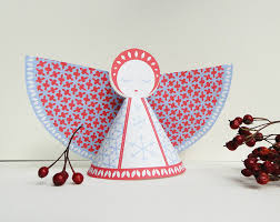 diy printable paper angel for christmas origami zoo