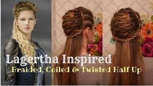 lagertha lothbrok hair braided vikings inspired twisted coiled and braided halfup youtube