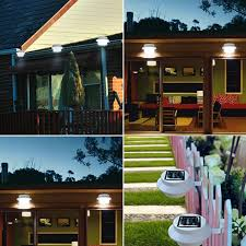 outsunny led solar powered outdoor gutter fence