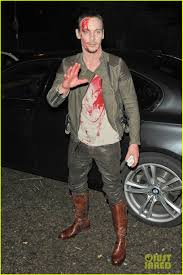 Fake Blood Halloween Costume Jonathan Rhys Meyers Bloody Halloween Party Photo