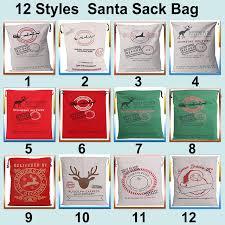 santa sacks hot sale 1pc christmas sacks 12 styles canvas santa sacks gift
