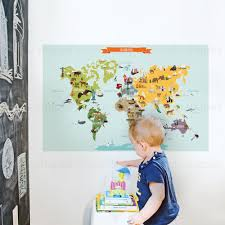 simpleshapes children world map poster wall decal wayfair children world map poster wall decal