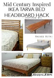 Ikea Bed Hack Mid Century Inspired Ikea Tarva Bed Headboard Hack Blogger Home