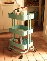 Bathroom Storage Cart by Raskog Trolly Turquoise Made Of Steel And Available In Turquoise