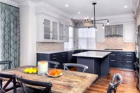 rustic kitchen with two tone cabinets black two tone kitchen