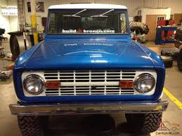 white bronco car rebuilt classic 1974 ford bronco 4x4 blue with white hardtop