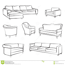 drawn couch armchair pencil and in color drawn couch armchair