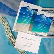 tropical themed wedding invitations modern seaside summer wedding invitations ewi038 as low as
