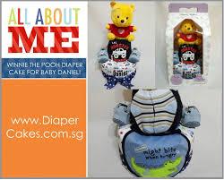 winnie pooh 2 tier cute diaper cake baby gift daniel