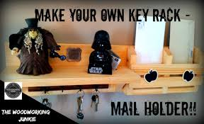 Mail And Key Holder How To Make A Diy Key Rack Shelf Mail Holder Youtube