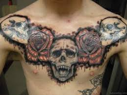 chest tattoo design 70 stunning skull tattoos on chest