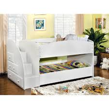 Bunk Bed With Pull Out Bed Furniture Of America Ridge Adjustable Bunk Bed With