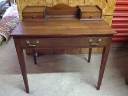 Small Wood Writing Desk Traditional Small Solid Cherry Wood Writing Desk By Willett