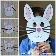 bunny mask preschool craft bunny mask east coast and bunny