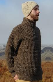 mens turtleneck sweater aran crafts sweater mens