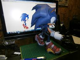 Sonic The Hedgehog Papercraft - sonic the hedgehog papercraft b by esteban1988 on deviantart