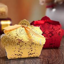 Wedding Gift Bags 50 100 Wedding Favor Boxes Gift Bags Rose Laser Cut Hollow Candy
