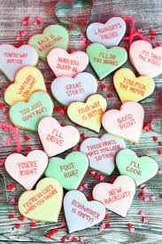conversation heart cookies what should i make for