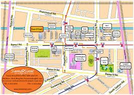 Bangkok Map Siam Square Bangkok Map Image Gallery Hcpr