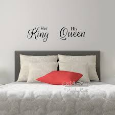 her king his queen quote wall sticker love quote wall decal her king his queen quote wall sticker love quote wall decal bedroom wall quotes from iwall