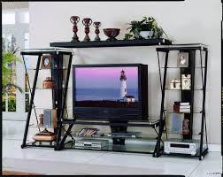 Glass Tv Cabinet Designs For Living Room Homelegance Metal And Glass 60 Inch W Tv Stand 8013 T2