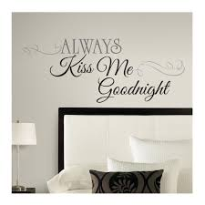always kiss me goodnight wall decal discount designer fabric zoom always kiss me goodnight wall decal